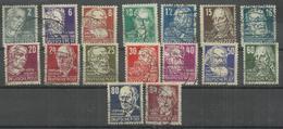 """Sowjetische Besatzungszone 212a-227a """"16 Briefmarken, Köpfe I-Satz Hoher Qualität, Kpl, Geprüft"""" Gestempelt"""" Mi.:40,00 - Zone Soviétique"""
