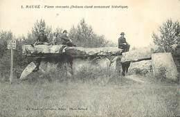 PIE-R-2-18-2495 : BAUGE. PIERRE COUVERTE. DOLMEN CLASSE MONUMENT HISTORIQUE. - Dolmen & Menhirs