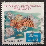 MADAGASCAR 1982 Fish. USADO - USED. - Madagascar (1960-...)