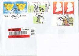 Österreich - Schöne 8 Fach MIF Auf R-Brief, Großer Kompletter Brief Ohne Inhalt, Adresse Abgedeckt - 2011-... Cartas