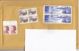 Frankreich - Schöne 8 Fach MIF Auf Luftpolsterbrief, Großer Kompletter Brief Ohne Inhalt, Adresse Abgedeckt - France