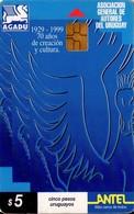 TARJETA TELEFONICA DE URUGUAY, 81a (215) AGADU - Uruguay