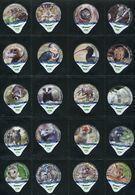 3268 A - Zoo La Garenne - Serie Complete De 20 Opercules Creme Suisse Cremo - Opercules De Lait