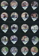 3268 A - Zoo La Garenne - Serie Complete De 20 Opercules Creme Suisse Cremo - Milk Tops (Milk Lids)