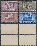 Italia Italy 1937 Regno Augusto Aerea 4val Sa N.A106-A109 Nuovi Integri MNH ** - Correo Aéreo