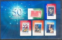 F61- Australia 50 Years Of Christmas Stamps. Self Adhesive Stamps. - Australia