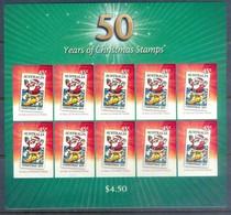F62- Australia 50 Tears Of Christmas Stamps. Self Adhesive Stamps. - Australia