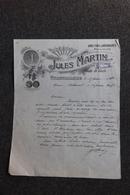 Facture Ancienne - VILLEURBANNE, Jules MARTIN, Vins En Gros. - Agriculture