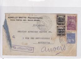 ENVELOPPE USED CIRCULATED BRASIL TO ANTUERPIA 1938 VIA AEREA AGNELLO BRITTO REPRESENTAÇOES.-BLEUP - Honduras