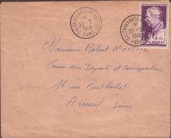 ENVELOPPE TIMBRE  29/2/1948 SALON DES ARTS MENAGERS PARIS VOIR PHOTO - Poststempel (Briefe)