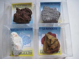 Coffret De 4 Pierres De VOLVIC AUVERGNE PUYS DE DOME - Minéraux & Fossiles