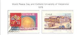 Chile PO 1978 Giorno Pace E Valparaiso Univ.  Scott.521+522+ Used See Scan On Scott. Page - Chile