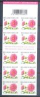 F71- Belgium 2007. Flowers. Booklet Of 10 Stamps. - Belgium