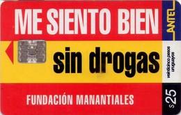 TARJETA TELEFONICA DE URUGUAY, 203a (219) SIN DROGAS - Uruguay