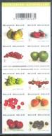F77- Belgium 2007. Fruits Apple Grapes Plums Cherries Pears Peaches Booklet Of 10 Stamps. - Belgium