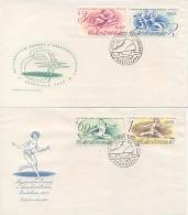 Czechoslovakia 1966 FDC 2 Covers European Figure Skating Championships At Bratislava - Pattinaggio Artistico