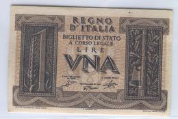 ITALY 26 1939 1 Lira UNC - [ 1] …-1946 : Koninkrijk