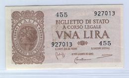 ITALY 29b 1944 1 Lira UNC - [ 1] …-1946 : Koninkrijk
