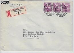 1937 Chillon 203/299 Charge Zürich 2 Fraumünster 17.III.37 - Schweiz