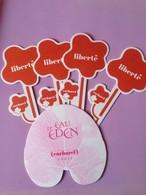 Liberté + D' Eau Eden De CACHAREL  5 CARTES - Cartes Parfumées