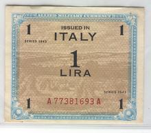ITALY M10 1943 1 Lira UNC - [ 3] Militaire Uitgaven