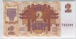 LATVIA 36 1992 2 Rublis UNC - Latvia