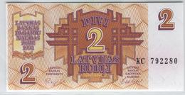 LATVIA 36 1992 2 Rublis UNC - Lettonie