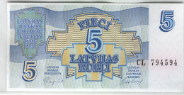 LATVIA 37 1992 5 Rublis UNC - Lettonie