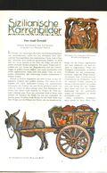 Sizilianische Karrenbilder (von Josef Oswald)  / Artikel Und Drucke, Entnommen Aus Zeitschrift /1942 - Bücher, Zeitschriften, Comics