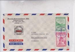 SERVICIOS CENTROAMERIANOS LTDA AIRMAIL CIRCULATED COSTA RICA TO ALEMANIA GERMANY CIRCA 1950's.-BLEUP - Costa Rica