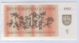 LITHUANIA 39 1992 1 Talonas UNC - Lithuania