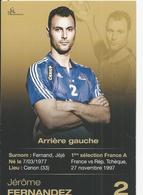 10X15   Cenon   Jérome FERNANDEZ  Sport    Handball  Publicité    Recto-verso - France