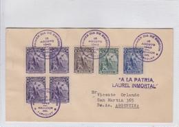 FDC SELLO A LA PATRIA LAUREL INMORTAL. CIRCULATED ASUNCION TO BUENOS AIRES. 1943.-BLEUP - FDC