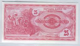 MACEDONIA 2 1992 25 Denar UNC - Macedonia