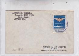 ANTARTIDA CHILENA CAMPAÑA 1973-1974 BASE NAVAL ARTURO PRAT.-BLEUP - Bases Antarctiques