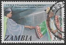 Zambia SG476 1987 20th Anniversary Of University Of Zambia 35n Good/fine Used [37/30783/2D] - Zambia (1965-...)