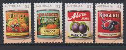 AUSTRALIA, 2017, MNH, JAM LABELS, FRUIT, VINTAGE LABELS, 4v - Food