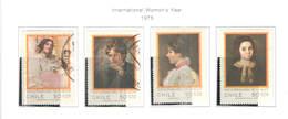 Chile PO 1975 Anno Della Donna   Scott.473/476+used See Scan On Scott. Page - Chile