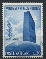 Vatican - Vatikanstadt 1965 Y&T N°435 - Michel N°484 (o) - 30l Siège De L'ONU - Oblitérés