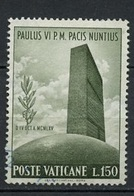 Vatican - Vatikanstadt 1965 Y&T N°436 - Michel N°485 (o) - 150l Siège De L'ONU - Oblitérés