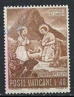 Vatican - Vatikanstadt 1965 Y&T N°439 - Michel N°488 (o) - 40l Noël - Oblitérés