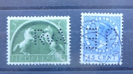 Estampillas De Holanda - Stamps Of Netherlands - Perfins - Paesi Bassi