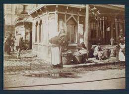 76 DIEPPE Photo 1898 Marche Aux Poissons 5,5 X 8 Cm - Lieux