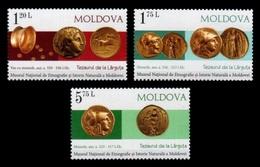 Moldova 2018 Mih. 1048/50 Ancient Coins From Larguta MNH ** - Moldavia