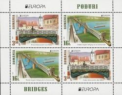 "RUMANIA/ ROMANIA/ RUMÄNIEN- EUROPA 2018 - TEMA ANUAL ""PUENTES.- BRIDGES - BRÜCKEN - PONTS"" - HOJITA BLOQUE Tipo 1 - 2018"
