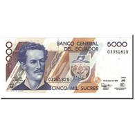 Billet, Équateur, 5000 Sucres, 1991-99, 1999-03-26, KM:128c, NEUF - Ecuador
