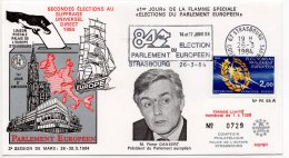 1984 - Strasbourg - Conseil De L'Europe - Parlement Européen - Mr Pieter DANKERT Président Du Parlement Européen - Europese Instellingen