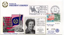1984 - Strasbourg - Conseil De L'Europe - Parlement Européen - Mme Maria-Luisa CASSANMAGNAGO-CERRETTI Vice Présidente - Europese Instellingen