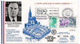 1984 - Strasbourg -Conseil De L'Europe -Parlement Européen- Mr  François MITTERRAND Pdt En Exercice Du Conseil Européen - Europese Instellingen