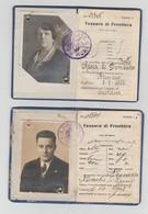REGIA QUESTURA DI FIUME RIJEKA REKA N. 2 TESSERE DI FRONTIERA  -  BRUSINO CAVEDINE 1928 1931 - Non Classificati